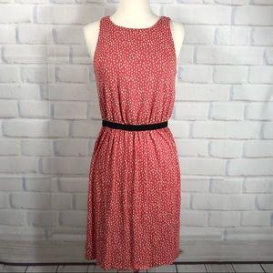 LOFT Coral Key Hole Sleeveless Dress